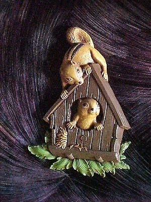 Vintag Miniature Plastic Homco Squirrel Wall Plaque MCMLXXVII (1977) Made in USA