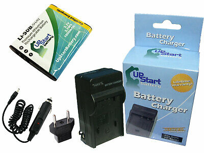 Battery +Charger +Car Plug +EU Adapter for Olympus XZ-1, WG