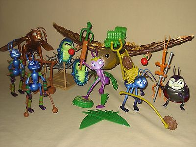 Lot Bug's Life Figures Flik Atta Tuck & Roll Hopper Francis & Slim Battle Bird