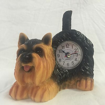 Johnny Depp Special - 2 Critter Clocks Yorkshire Terrier Wagging Tail Puppy Dog