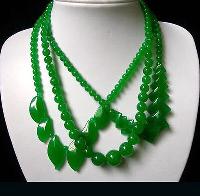 Genuine Natural Green Jade Fashion Jewelry Pendant Necklace AAA Grade