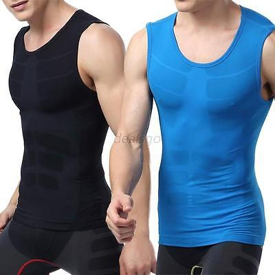 Mens Compression Sleeveless Sports Tight Shirt Fitness GYM Base Layer Tops M-XL
