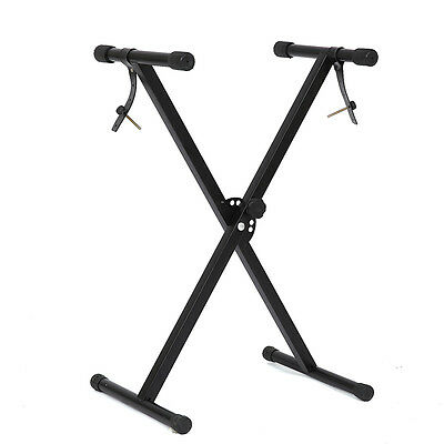 Music Piano X Frame Keyboard Stand With Straps Folding Adjustable Portable UK