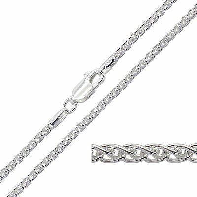 """925 Sterling Silver SPIGA Chain Necklace 14 16 18 20 22 24 26 28 30"""" Inch 1.8mm"""