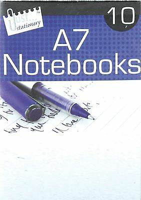 10 Notebook A7 Shopping School List Note Writing Book White Paper Lined Office