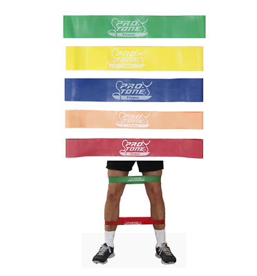 Resistance Band 5 X Thigh Loop Set By Protone