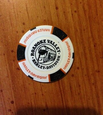 "New Harley Davidson Poker Chip from Roanoke, VA ""Roanoke Valley"" Signature Chip"