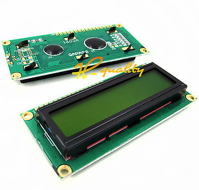5PCS 1602 16x2 HD44780 Character LCD Display Module Yellow backlight