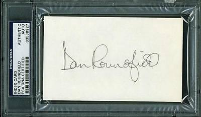 Hawks Dan Roundfield Authentic Signed 3X5 Index Card Autographed PSA/DNA Slabbed