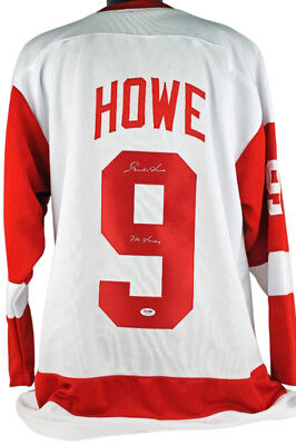 Red Wings Gordie Howe 'Mr Hockey' Authentic Signed White Jersey PSA/DNA