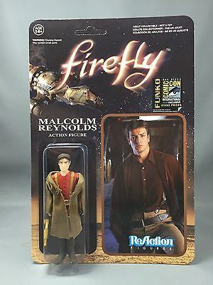 SDCC 2014 Funko Reaction MALCOLM REYNOLDS Firefly Figure MOSC Serenity Lot