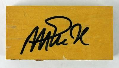 Lakers Magic Johnson Authentic Signed 1.5X3 Forum Floorboard PSA/DNA ITP
