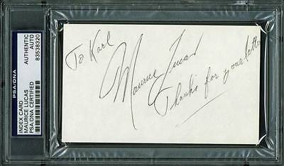 Blazers Maurice Lucas Authentic Signed 3X5 Index Card Autographed PSA Slabbed
