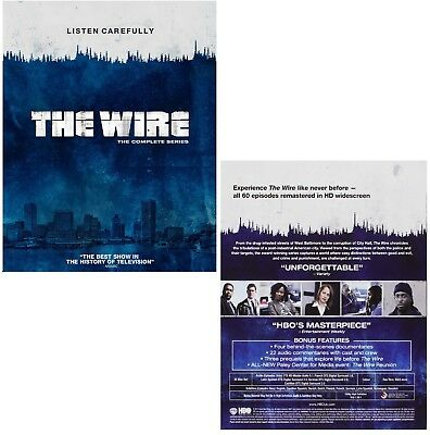 THE WIRE 1-5 (2002-2008): COMPLETE HBO Crime TV Season Series - NEW RgB BLU-RAY