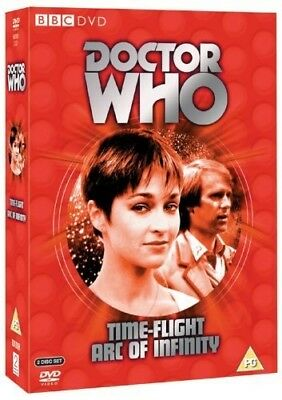 DR WHO 122 + 123 TIME-FLIGHT + ARC of INFINITY  Doctor Peter Davison NEW Rg2 DVD