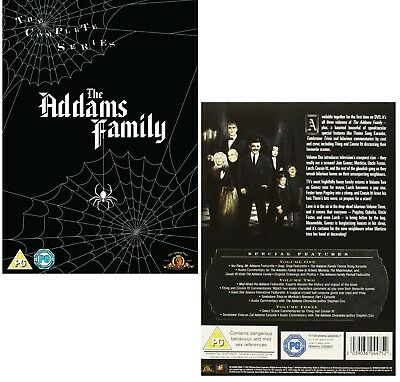 THE ADDAMS FAMILY 1-2 (1964-1966): COMPLETE Adams TV SERIES - NEW R2 DVD
