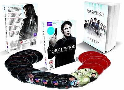 TORCHWOOD 1-4 (2006-2011) COMPLETE w CHILDREN OF EARTH+MIRACLE DAY R2 DVD not US