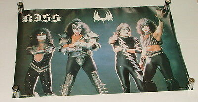 % TOY STAMP & 1985  KISS BAND POSTER 24 INCHES TALL  K3