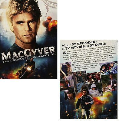 MacGYVER 1-7 1985-1994: COMPLETE Original Series Seasons+TV Movies R2 DVD not US