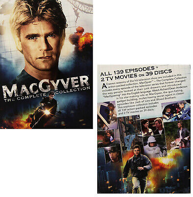 MacGYVER 1985-1994: Seasons 1-7 COMPLETE Original Series+TV Movies R2 DVD not US