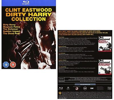DIRTY HARRY 1-5 1971-1988: 5 Movie Clint Eastwood COLLECTION NEW Rg Free BLU-RAY