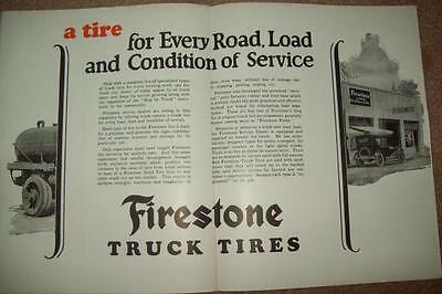Old AD Leaflet Firestone Truck Tires Vernon Chrest Westminster MD Great Pictures