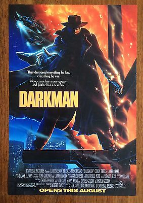 Original Darkman US Mini Film Poster (Sam Raimi 1990)