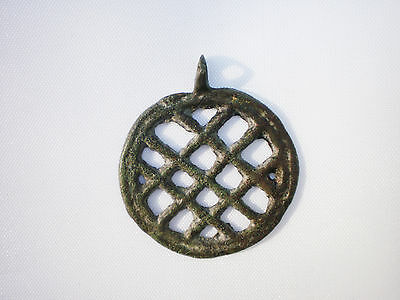 ANCIENT RARE Viking Bronze PENDANT Suspension ca 10 - 12 century AD