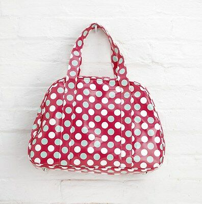 10x Job Lot Red Spotty Oilcloth Overnight Weekend Gym Bag By Katz Dancewear PP6P