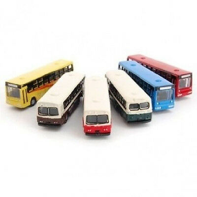 N Scale Railway 1:160 Diecast Mini Buses Model - 6 pack