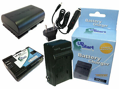 2x Battery +Charger +Car Plug +EU Adapter for Canon EOS 7D, 5D Mark2, 60Da DSLR