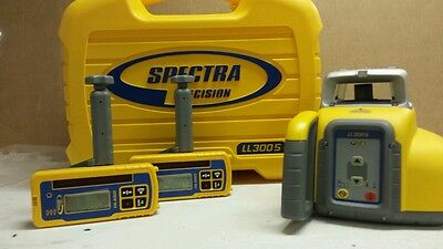 Spectra Precision Ll300S Single Slope Laser W 2 Hl450 Receivers