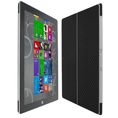 Skinomi Carbon Fiber Black Skin+Clear Screen Protector for Microsoft Surface 3