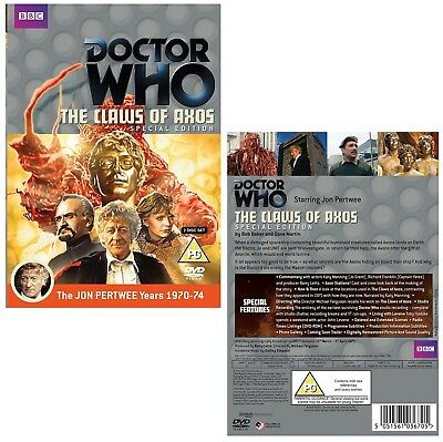 DR WHO 057 THE CLAWS OF AXOS (Special Edition) TV Doctor Jon Pertwee NEW R2 DVD