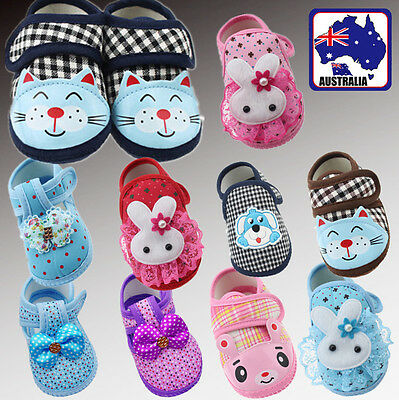Cute Infant Toddler Baby Girl Boy Babies Soft Crib Shoes 6-12months BSHOE12