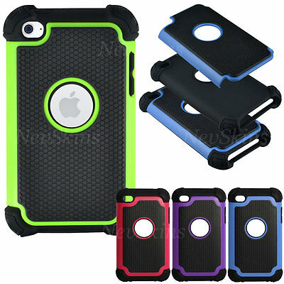 NEW Case for Apple iPod Touch 4 4th Gen 4G Tough Impact Heavy Duty Style Cover