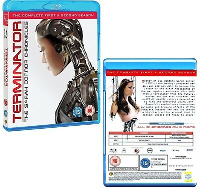TERMINATOR: THE SARAH CONNOR CHRONICLES 1+2 2008 COMPLETE Series Rg Free BLU-RAY