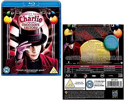 CHARLIE AND THE CHOCOLATE FACTORY (2005) Johnny Depp, Fantasy Sequel - BLU-RAY