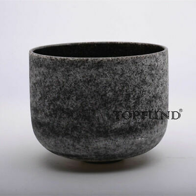 TOPFUND® New Frosted C Root Chakra Quartz Crystal Singing Bowl 20 cm
