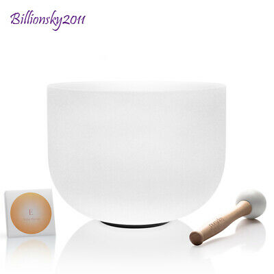 TOPFUND® Frosted C Root Chakra Quartz Crystal Singing Bowl 25 cm