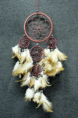 Dream Catcher Wall Hanging Decoration Ornament Bead Feathers Nylon handmade 16 ""