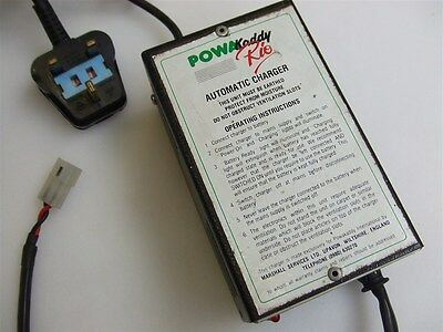 Genuine PowaKaddy Rio Automatic Charger for Golf Trolley Batteries 12V 1A DC
