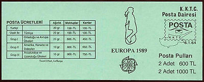 Cyprus Turkish Cypriot Posts 1989 SG#SB2 Europa Cto Used Stamp Booklet #C24385