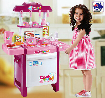 Kids Kitchen Fast Food Supermarket Cooking Set Pretend Role Play Toys GBKIC50