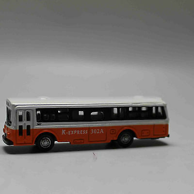 N Scale Railway 1:160 Diecast Mini Buses Model - White and Orange