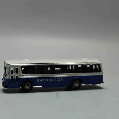 N Scale Railway 1:160 Diecast Mini Buses Model - White and Navy