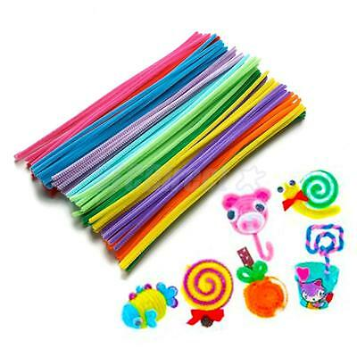 """300pc ASSORTED COLOR FUZZY PIPE CLEANERS CHENILLE STEMS STICKS 12"""" DIY CRAFT"""