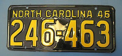 1946 North Carolina license plate professionally restored show quality neat #