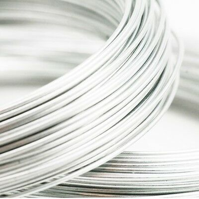 ❤ 10m x Aluminium SILVER Wire Findings 0.8mm 20 Gauge Jewellery Making ❤