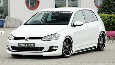 rieger frontspoilerlippe f r vw golf 7 r r line eur 199 00 picclick de. Black Bedroom Furniture Sets. Home Design Ideas